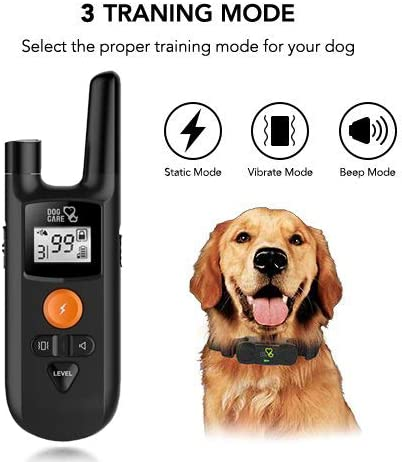 Dog Shock Collar – Dog Training Collar with Remote, 3 Training Modes, Up to 1000Ft Remote Range, 0 99 Shock Levels, Beep, Vibration ,Shock, Rechargeable Remote Shock Collar for Dogs