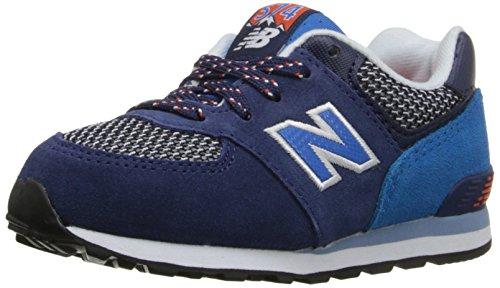 New Balance KL574 Summit Running Shoe (Infant/Toddler), Blue/Blue, 2 M US Infant ()