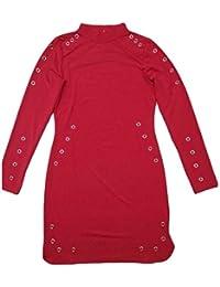 f9b41c25695377 Womens High Neck Long Sleeve Bodycon Hollow Clubwear Mini Dress