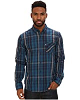 Levi's Men's Byron Poplin Plaid Long Sleeve Shirt