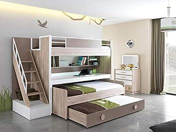 Etagenbett ALFA, für 2 oder 3 Kinder: Amazon.de: Küche ...
