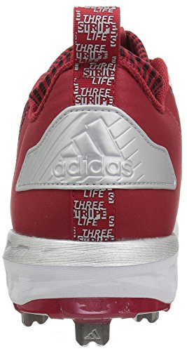 Adidas Originaler Mænds Freak X Kulstof Midten Baseball Sko Magt Rød / Hvid / Metallisk Sølv Utk1La
