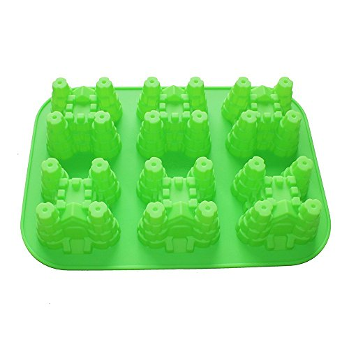 X-Haibei Mini Castle Cakelette Baking Pan Cake Gelatin Soap Mold Silicone Kids Party Maker
