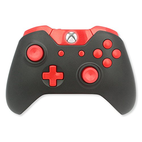 Xbox One Modded Controller Black and Red - Xbox 1 - Master Mod Includes Rapid Fire, Drop Shot, Quick Scope, Sniper Breath, and More - Works for Call of Duty Black Ops III (Modded Controller Xbox One)
