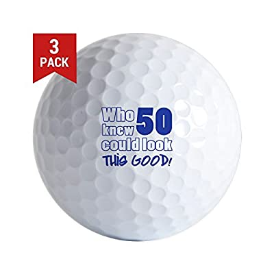 CafePress - 50 Years Old Looks Good - Golf Balls (3-Pack), Unique Printed Golf Balls
