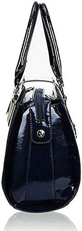 女性のクロコダイル模様のハンドバッグパテントレザートートショルダーバッグクロスボディバッグ YZUEYT