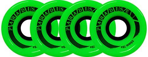 PARADISE Skateboard Cruiser Wheels 59mm 78A Green Old School Filmer