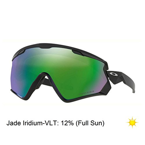 Oakley Wind Jacket 2.0 Snow Goggles, Matte Black, Prizm Jade Iridium, One - Jacket Wind 2.0