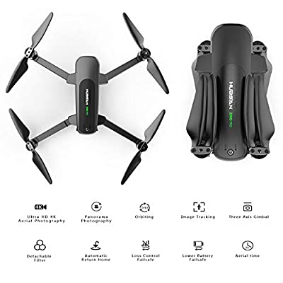 Hubsan Zino Pro 4K Drone with 3-Aix Gimbal GPS Quadcopter Live Video 5G WiFi 4km FPV Drone Brushless for Beginners(Camera Lens Filter Included)