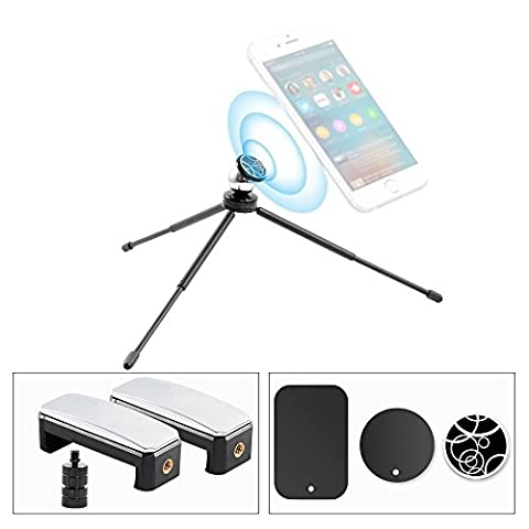 Phone Tripod with Mount Adapter, ohCome Adjustable Phone Tripod Stand