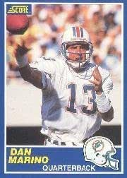 Amazon Com 1989 Score Dan Marino Football Card 13 Shipped In Protective Display Case Sports Collectibles