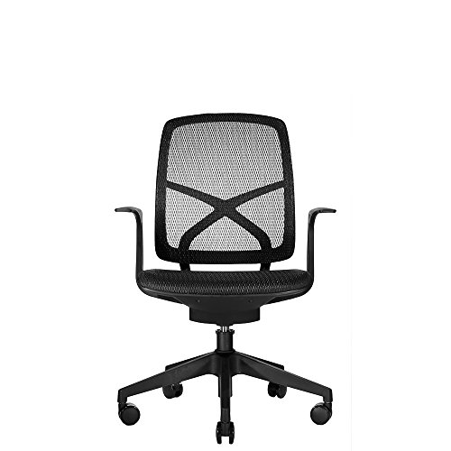 WOBI OFFICE Phelps Chair, Black Mesh/Upholstery