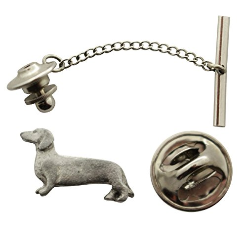Dachshund Tie Tack ~ Antiqued Pewter ~ Tie Tack or Pin ~ Sarah's Treats & Treasures by Sarah's Treats & Treasures (Image #1)