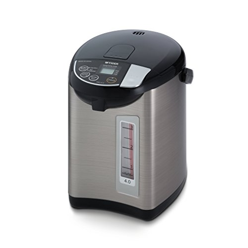 Tiger PDU-A40U-K Electric Water Boiler and Warmer, Stainless Black, 4.0-Liter (Hot Tiger Water Dispenser)