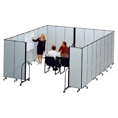 Screenflex Standing Free 13 Panels - Screenflex FREEstanding 13 Panels Portable Partition - 24.10 ft Length x 72