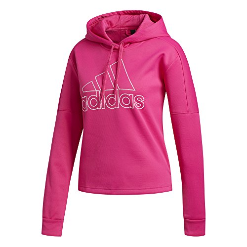 adidas Women's Athletics Team Issue Pullover Hoodie, Real Magenta, Medium