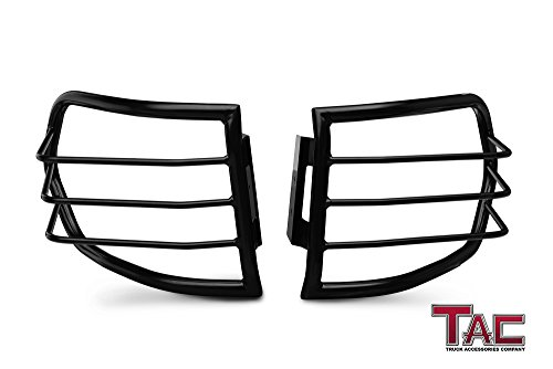 TAC Tail Rear Light Guards Cover Protector for 2007-2014 Toyota FJ Cruiser TLG Black Taillight – 1 Pair