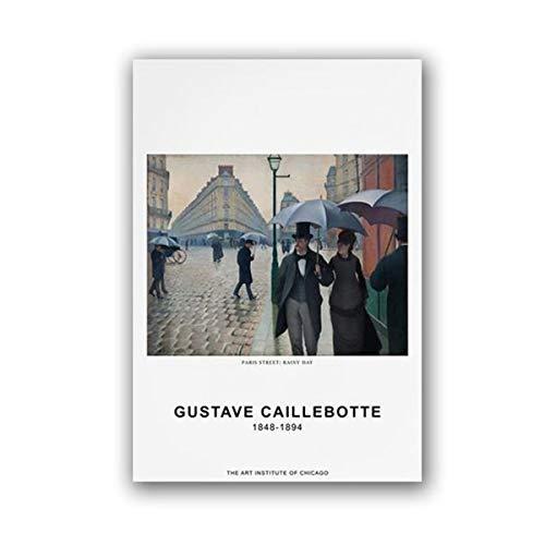 Exquisitos carteles de arte hechos por el famoso pintor frances Gustave Carribert, cuadros de lienzo decorativos sin marco de arte A176 40x60cm