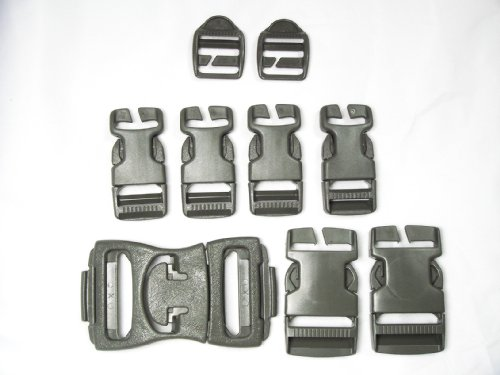 Official US Military Replacement Assault Backpack Pack Snap Buckle Set ACU Foliage Green