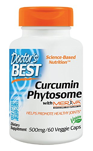 Doctor's Best Curcumin Phytosome with Meriva, Non-GMO, Vegan, Gluten Free, Soy Free, Joint Support, 500 mg 60 Veggie Caps