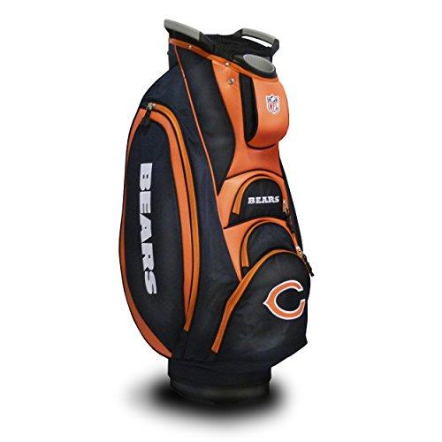 Bag Bears Cart Golf Chicago - Team Golf NFL Chicago Bears Victory Golf Cart Bag, 10-way Top with Integrated Dual Handle & External Putter Well, Cooler Pocket, Padded Strap, Umbrella Holder & Removable Rain Hood
