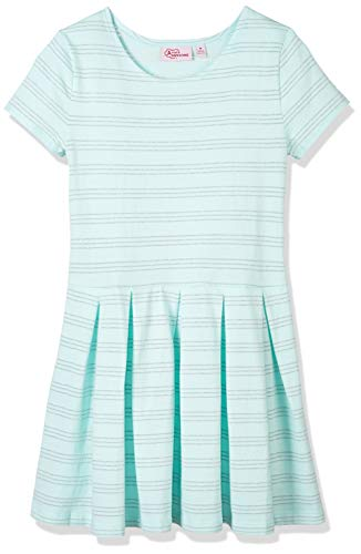 - A for Awesome Youth Girls Long Sleeve Lurex Stripe Jersey Dress Medium Ocean Mint