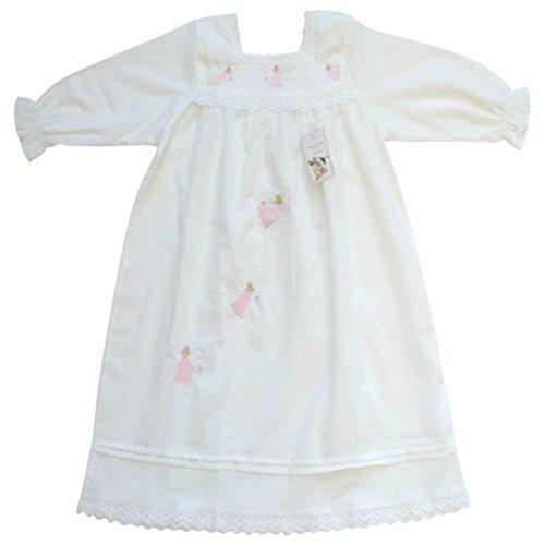 Powell Craft Baby Girls' Cotton Fairy Nightdress/nightgown.1-2 Years.white