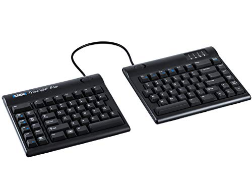 Kinesis Freestyle2 Blue Wireless Ergonomic Keyboard for PC (9'...
