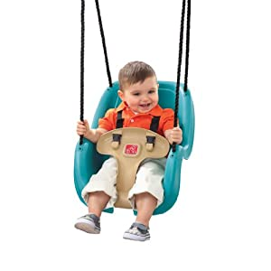 Step2  Infant to Toddler Swing 1-Pack (Turquoise) - 41XeNOzU86L - Step2 Infant To Toddler Swing Seat, Turquoise