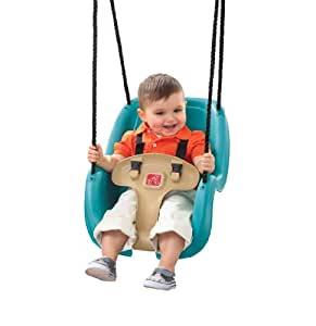 Step2 Infant to Toddler Swing Seat - Durable Outdoor Baby Chair Fun Toy, Turquoise