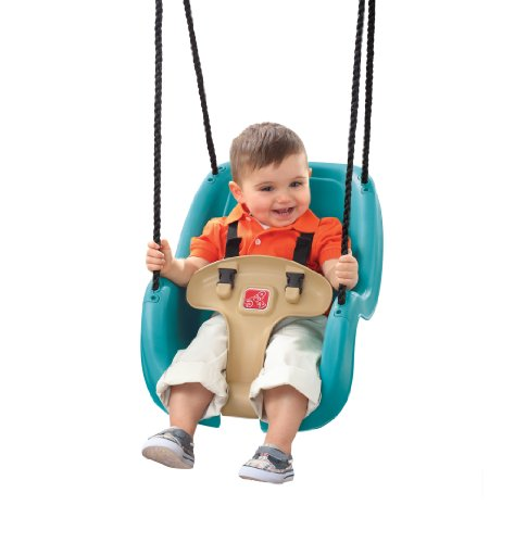 Step2 Infant to Toddler Swing Seat - Durable Outdoor Baby Chair Fun Toy, Turquoise - Outside Baby Swing