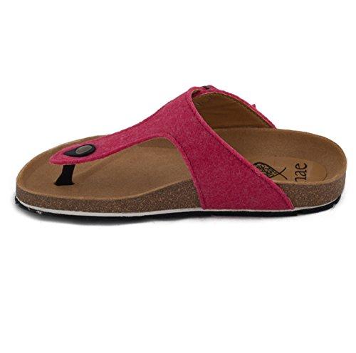nae Kos PET Pink - sandales 100% véganes et écologiques. Faits avec PET recyclé de bouteilles en plastique et une semelle fait en pneus recyclés.