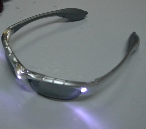12 Pairs of LED Flashlight Safety Biker Lighted Light Up Glasses Mammoth Sales .