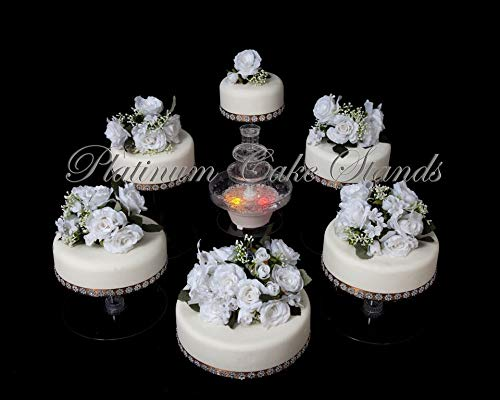 6 Tier Clear Wedding Cascade Cupcake Cake Stand (STYLE R600)]()