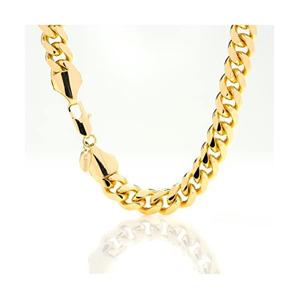 Best-Cuban-Link-Bracelet-11MM-Round-Fashion-Jewelry-Made-of-Real-24K-Gold-on-Semi-Precious-Metals-Thick-Layers-Help-it-Resist-Tarnishing-100-FREE-LIFETIME-REPLACEMENT-GUARANTEE-8-10-inches