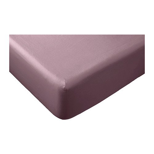 Ikea gaspa queen fitted sheet dark lilac 100 cotton for Ikea sheets review