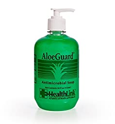 Healthlink AloeGuard 7760 Moisturizing Antimicrobial Soap, 18 oz, Aloe Vera Infused, PCMX, Light Floral Scent (1 Each) by Sold Individually