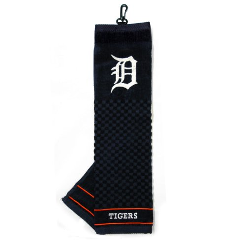 Team Golf MLB Detroit Tigers Embroidered Golf Towel, Checkered Scrubber Design, Embroidered Logo