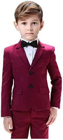 Boys Bozevon Kids Boys Blazer Suit Formal Page Boy Outfits Set
