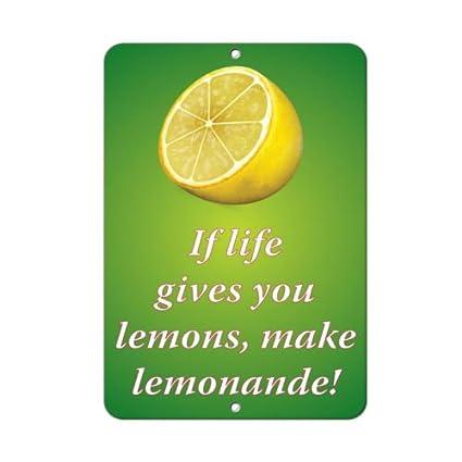 Amazoncom If Life Gives You Lemons Make Lemonade Funny Quote