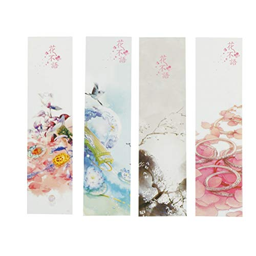 - OBELLA BOUTIQUE 30pcs Office Accessories Creative Flower Series Bookmark Postcard Greeting Card Bookmarks Teacher Gift