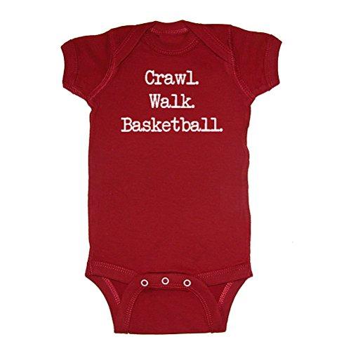 LOL Baby! Crawl Walk Basketball Baby Bodysuit (Garnet, 6 Months) ()