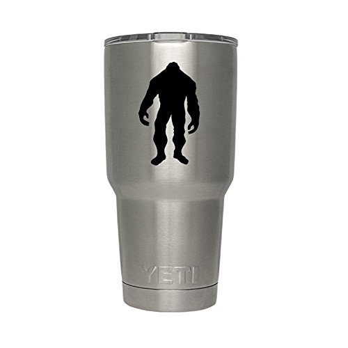 Bigfoot Silhouette Vinyl Sticker Decal for Yeti Mug Cup 30 oz RTIC Sic Cup Thermos (Bigfoot Sticker)