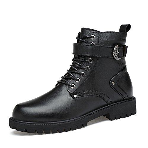 LOVDRAM Stiefel Männer Herbst Männer Schuhe Hoch Zu Helfen Männer Stiefel Mode Werkzeug Mode Leder Stiefel Martin Stiefel Herren Stiefelies