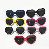 Heart Effect Diffraction Glasses - See Hearts