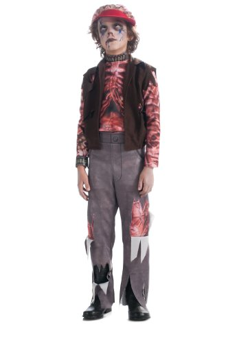 Rock Zombie Costume (Boy's Zombie Punk Rocker #2 Costume, Large)