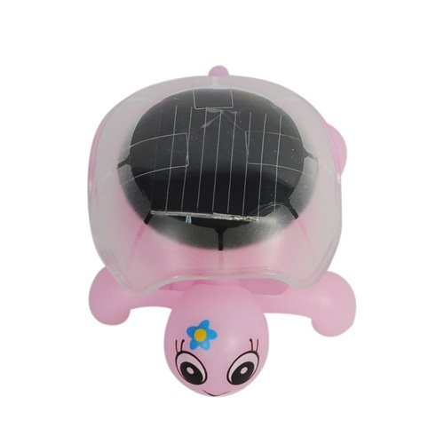 BUYEONLINE Jcne-08 Lovely Crystal Solar Power Mini Tortoise &Ndash; Pink by BUYEONLINE (Image #1)