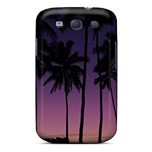 For Galaxy Case, High Quality Purple Sky Sunset For Galaxy S3 Cover Cases