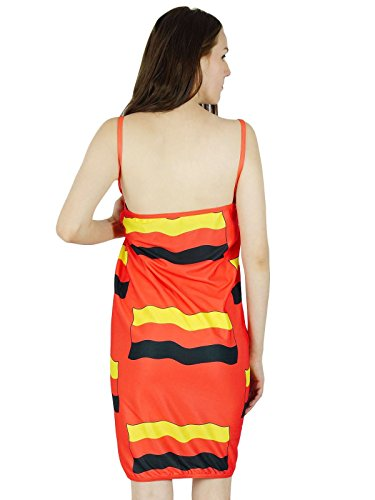 Casual Dress Hippie Women Party Beach Sundress Summer Yellow Tunic Indian and Orange New xgHx0wcqfT