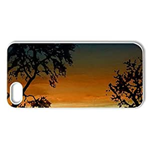 african night - Case Cover for iPhone 5 and 5S (Sky Series, Watercolor style, White)